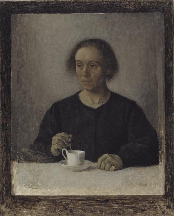 Vilhelm Hammershoei  Kunstnerens hustru Ida  SMK